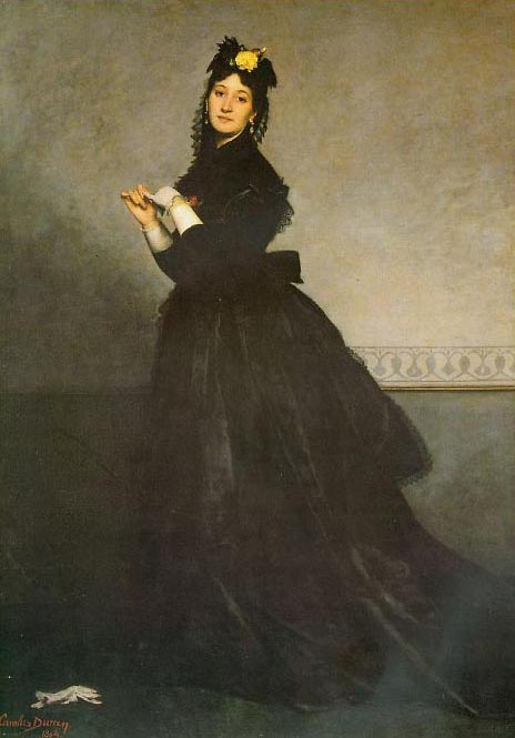 Carolus-Durand. Lady in black dress