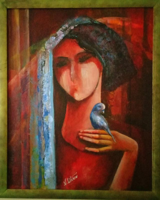 "Нина Литвин. ""Девушка с попугаем"""