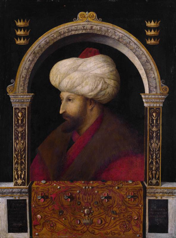 Джентиле Беллини. Портрет султана Мехмеда II Завоевателя