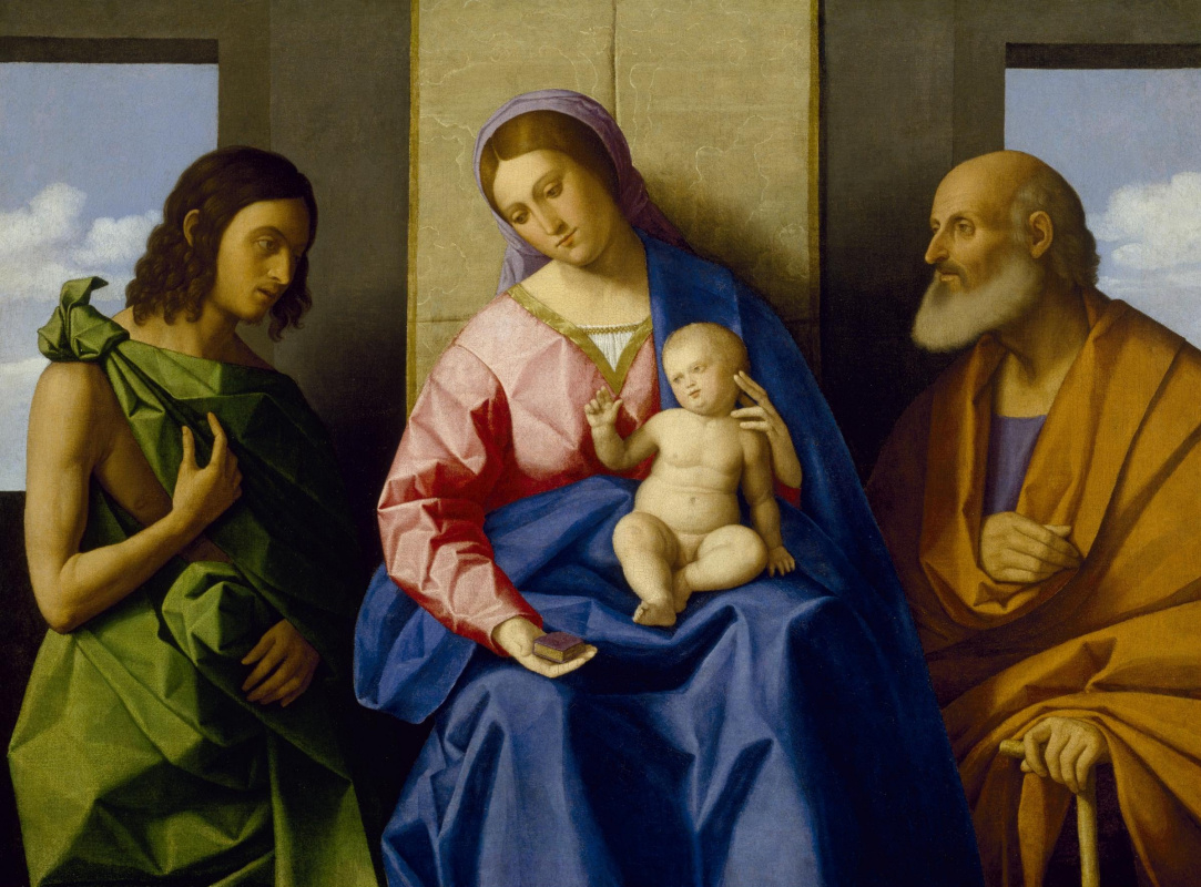 Vincenzo Di Biagio Catena. Madonna and Child with St. Joseph and John the Baptist