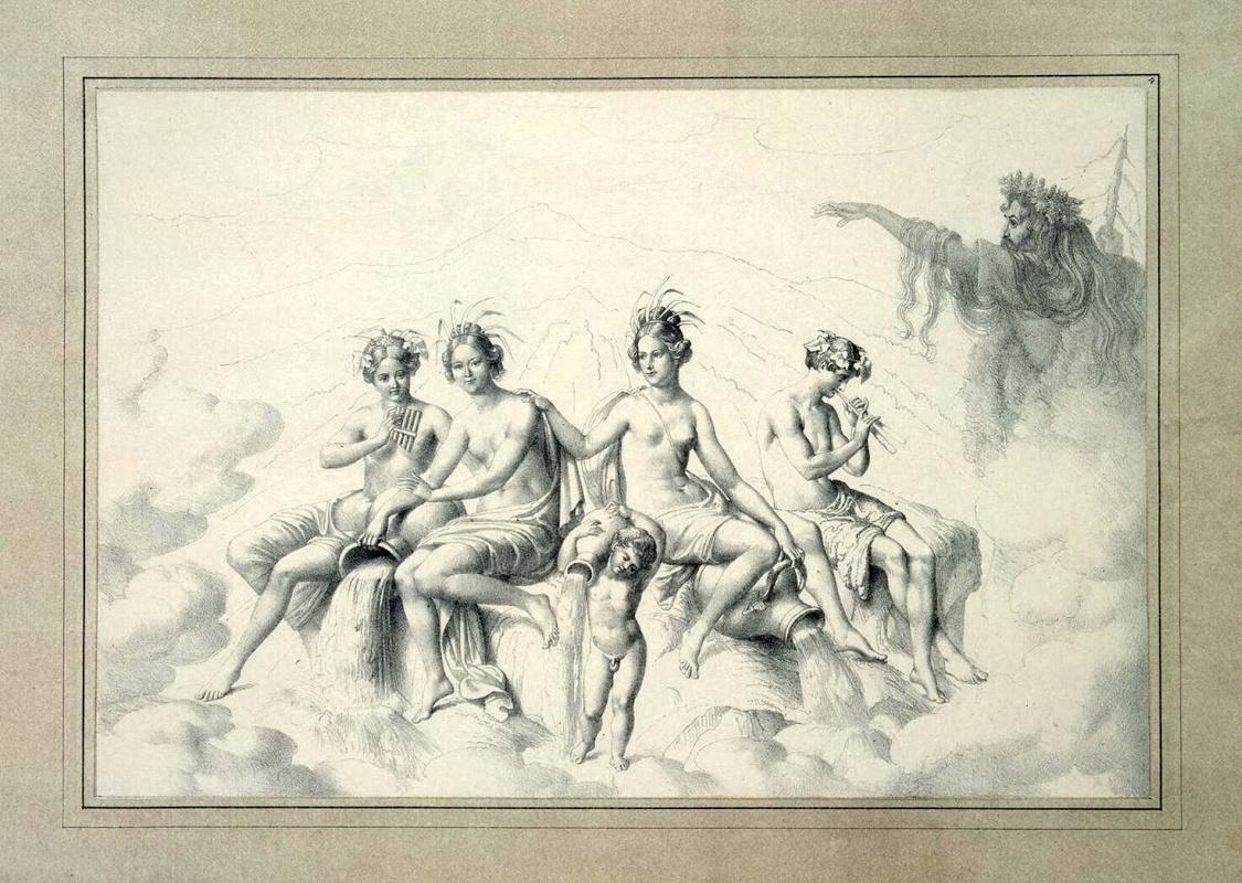 Юлиус Шоппе Старший. Речные нимфы и Рюбецаль