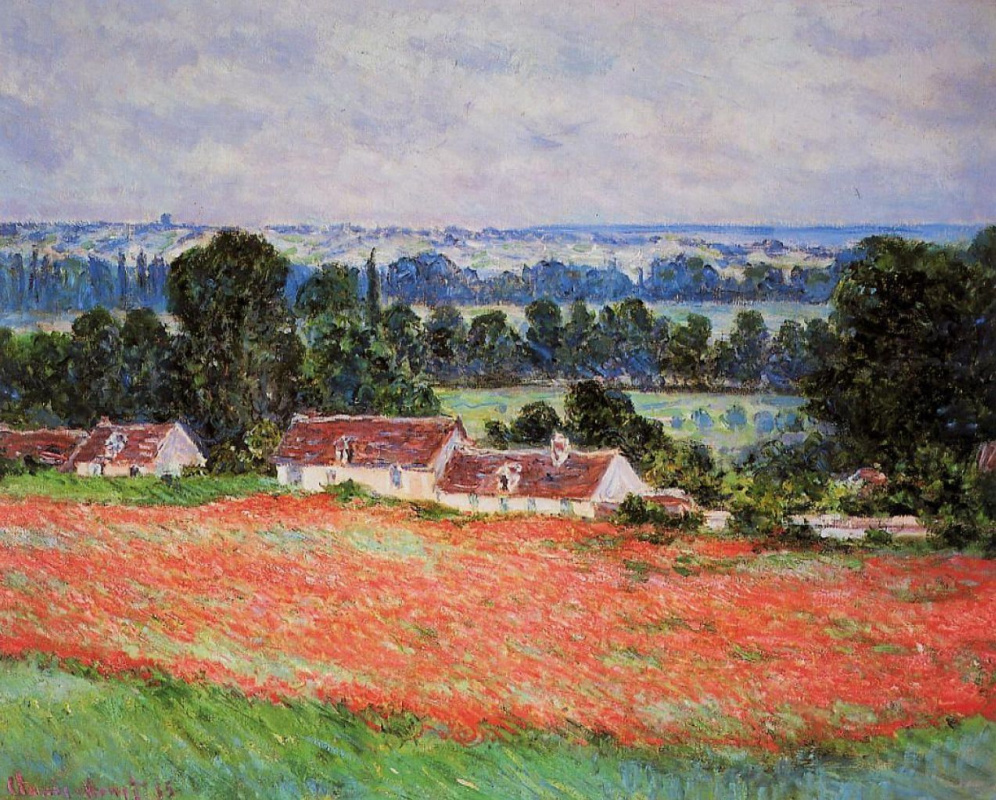 Claude Monet. Poppy field, Giverny