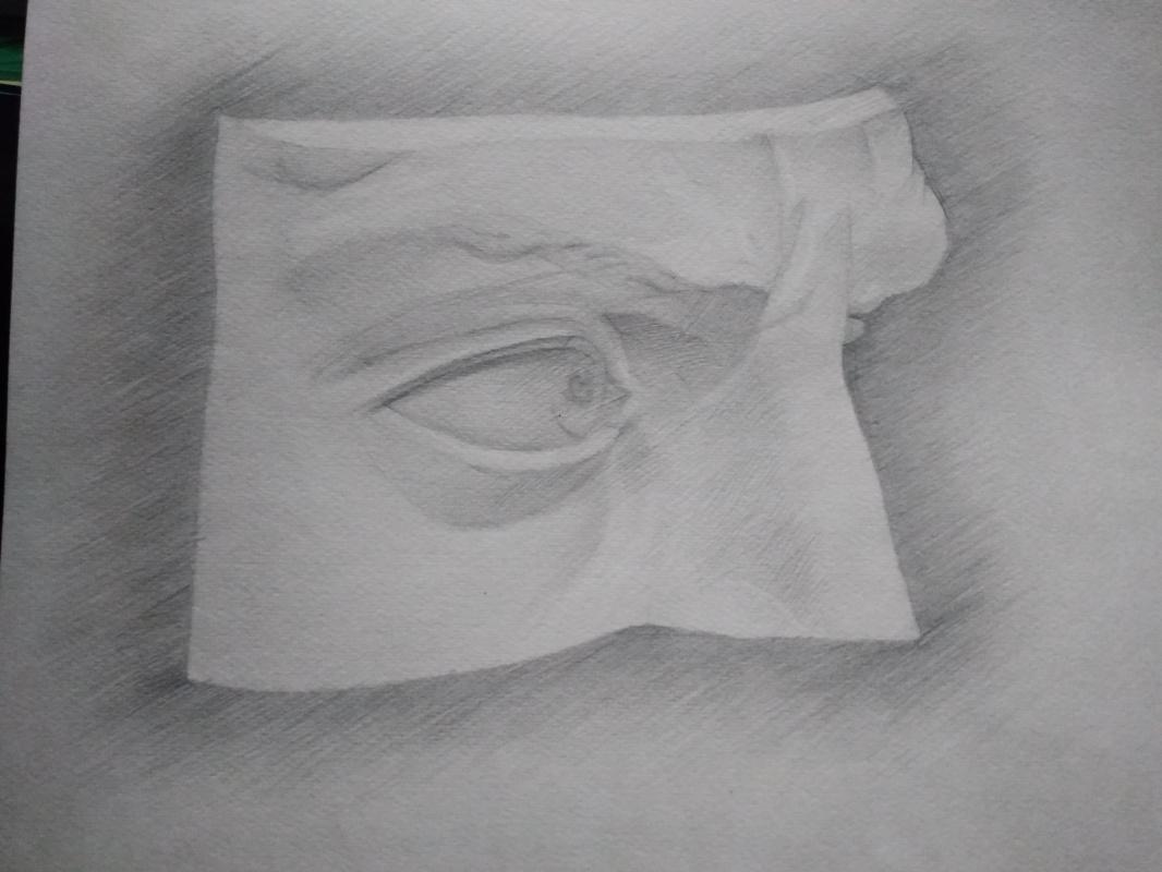 Novikov V.. Drawing, pencil, eye 90s
