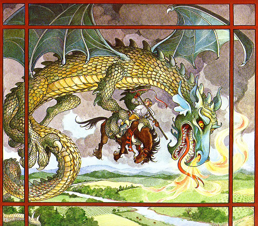 Трина Шарт Хайман. St. George and The Dragon 06