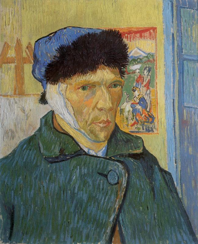 Vincent van Gogh. Self-portrait with bandaged ear