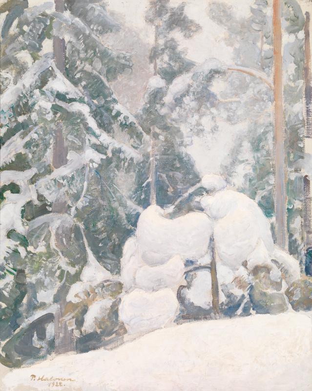 Пекка Халонен. Зимний пейзаж