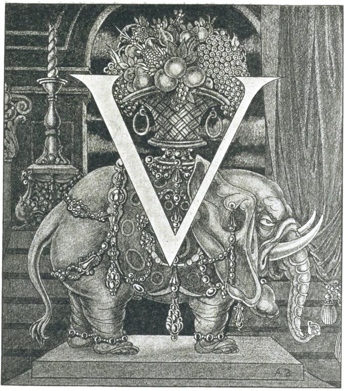 Обри Бердслей. 'V' со слоном