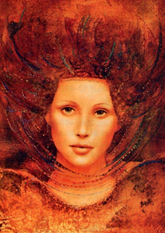 Чаба Маркус. Девушка с рыжими волосами