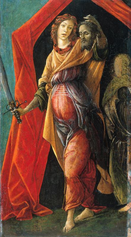Sandro Botticelli. Judith leaving the tent of Holofernes