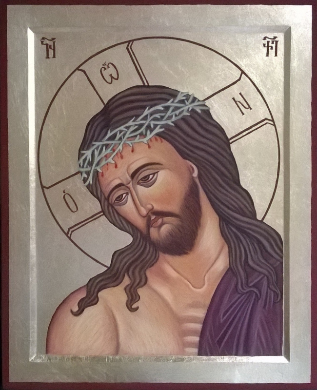 Badri Bukia. Icon of Christ in the crown of thorns