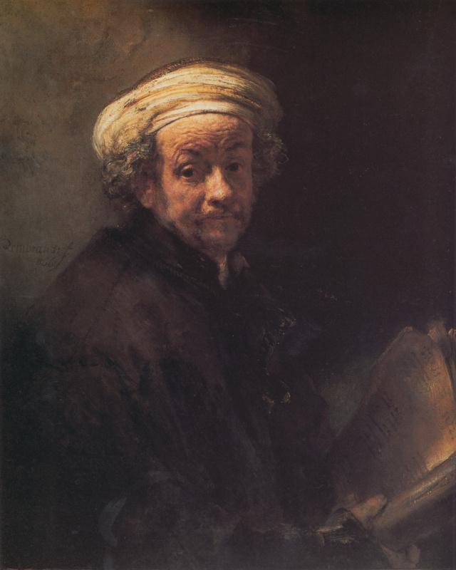 Рембрандт Харменс ван Рейн. Автопортрет в виде апостола Павла
