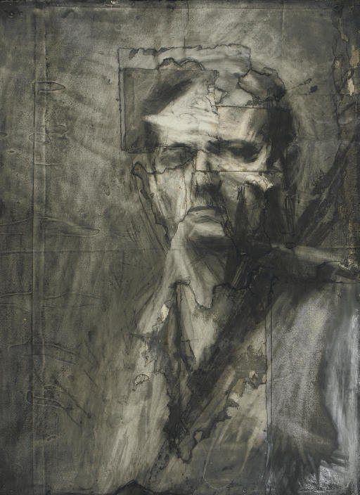 Франк Ауэрбах. Автопортрет