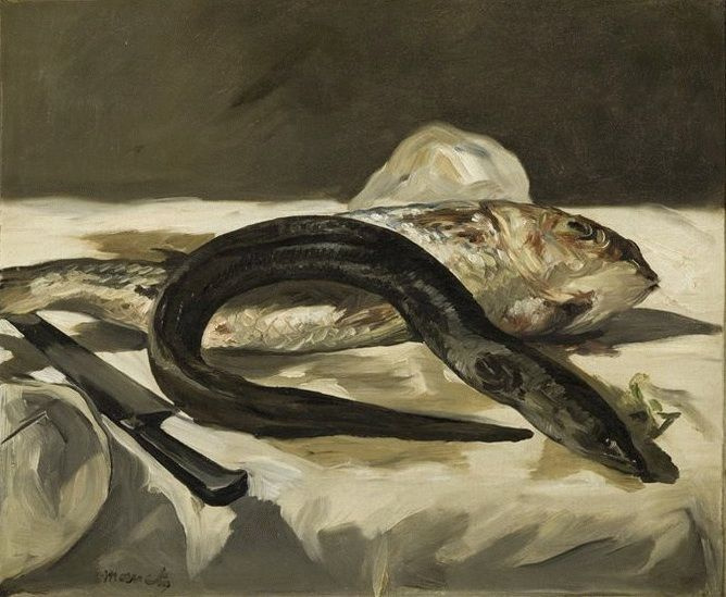 Edouard Manet. Eel and red mullet