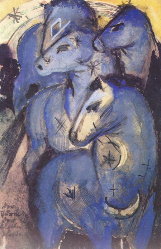 Франц Марк. Башня из синих коней