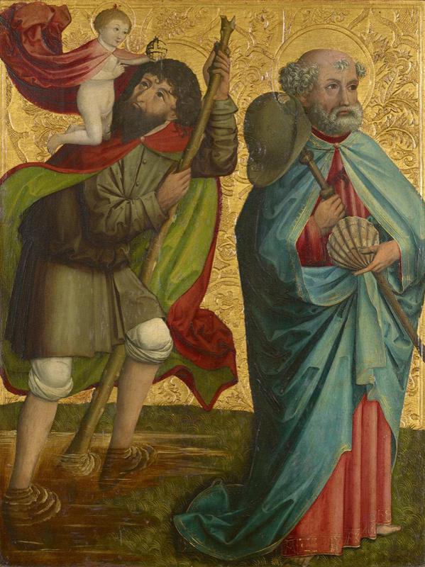 Мастер из Гросгмайна. Святой Христофор и Иаков Зеведеев
