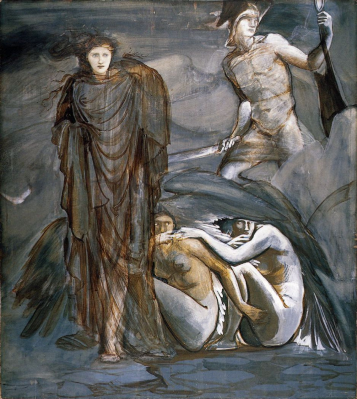 Edward Coley Burne-Jones. The Perseus Series: The Finding of Medusa