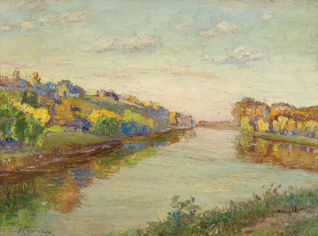 Nikolay Grigorievich Burachk. Landscape with a river