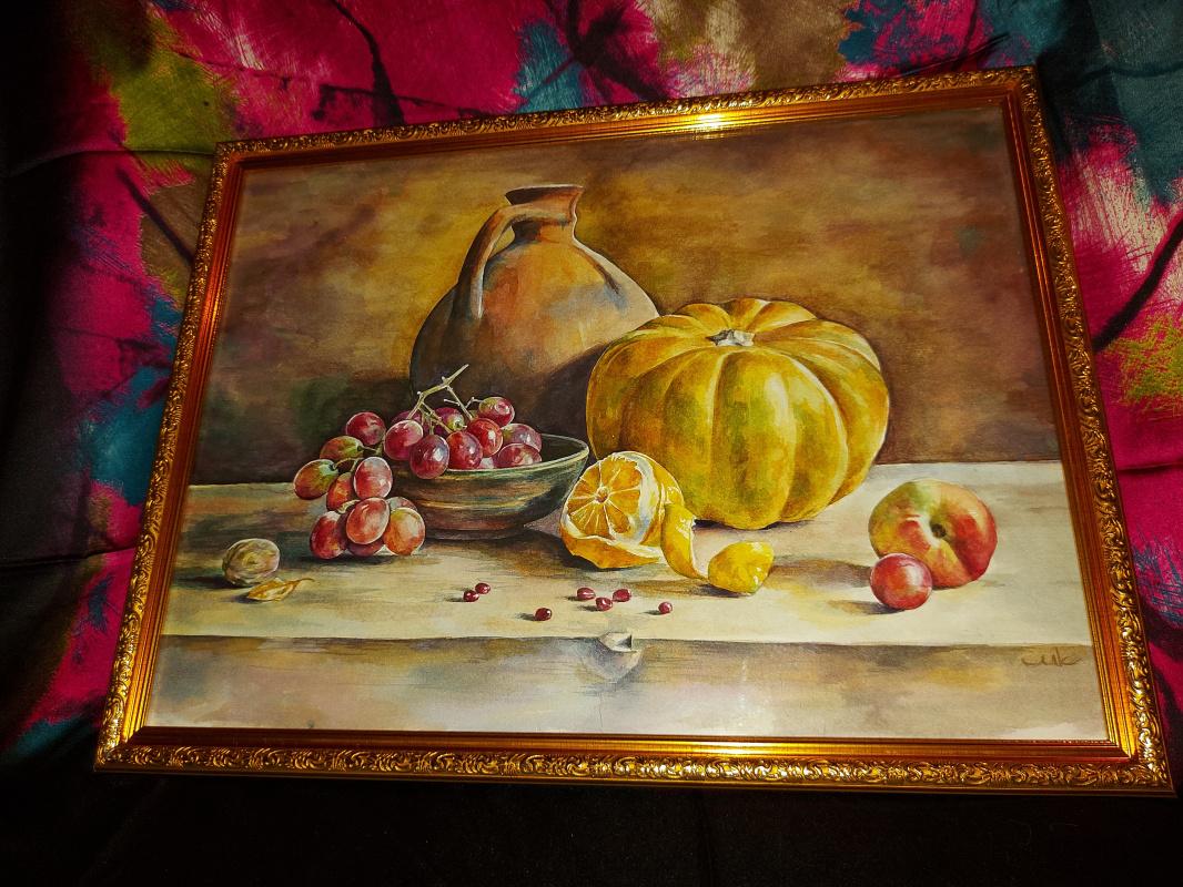 Milla Romanovna Kolesnichenko. Still Life with Pumpkin