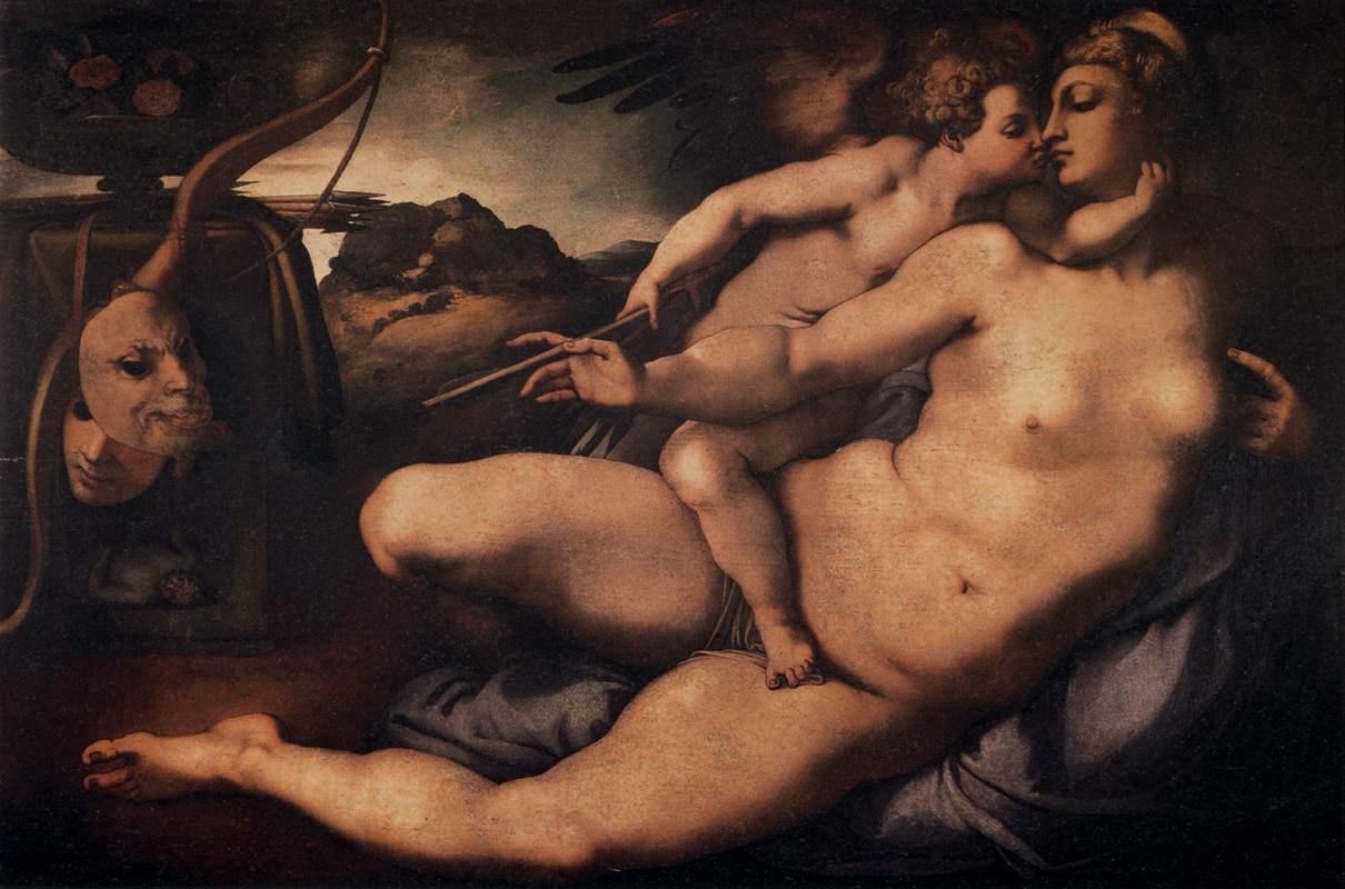 Якопо Понтормо. Венера и Купидон