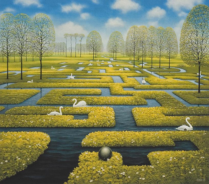 Jacek Yerka. Spring maze