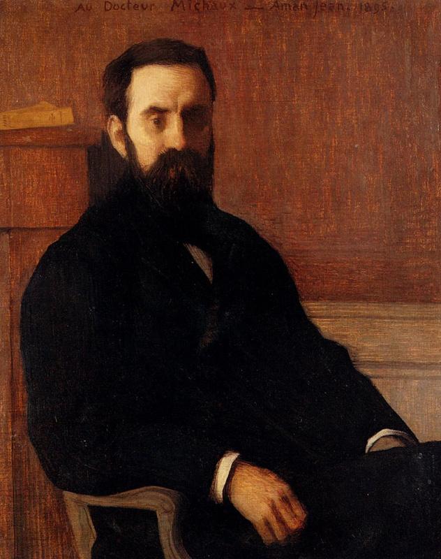 Эдмон Франсуа Аман-Жан. Портрет мужчины в черном