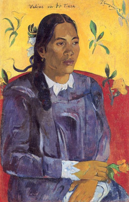 Поль Гоген. Женщина с цветком