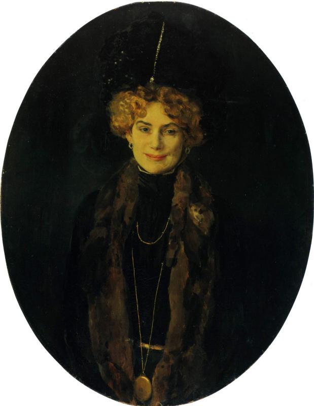 Constantin Somov. Portrait Of Eugenia Matveevna Bogolubovo
