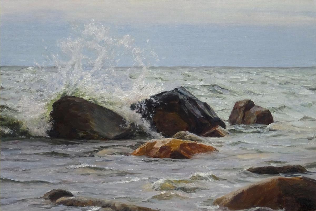 Igor Lemekhov. Stones by the shore