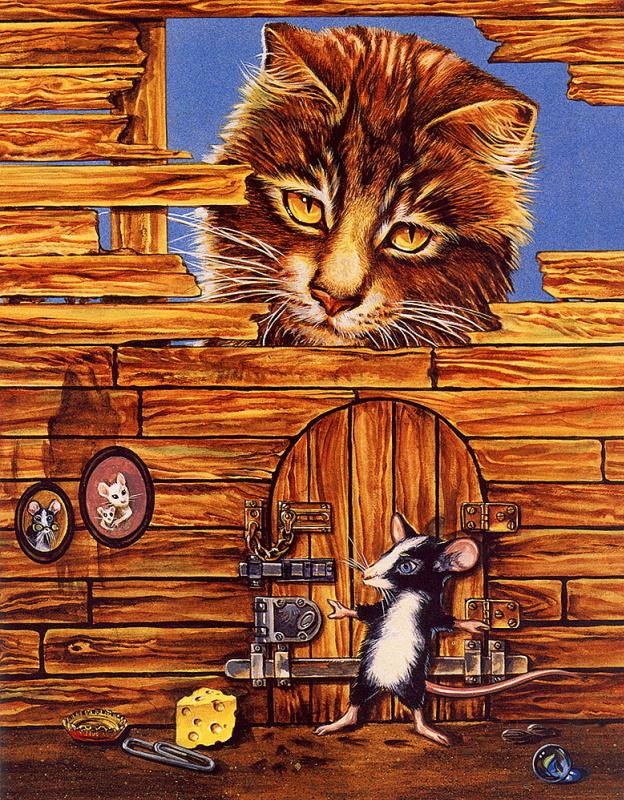 Валь и Рон Линдхан. Кот и мышка