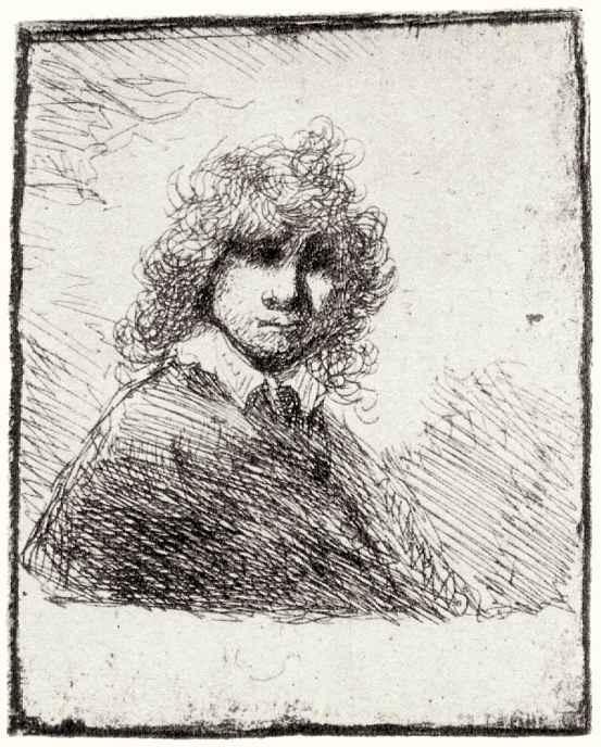 Рембрандт Ван Рейн. Автопортрет с челкой