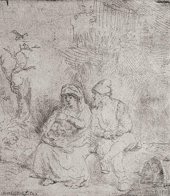 Рембрандт Ван Рейн. Отдых на пути в Египет