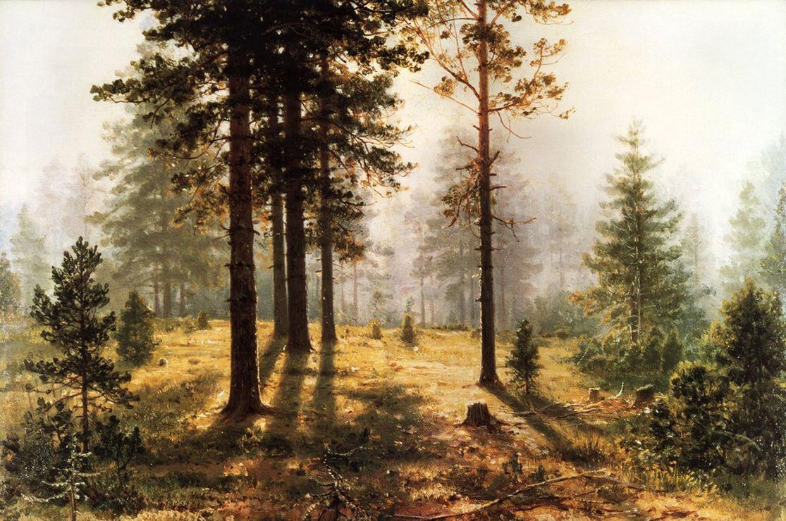 Ivan Shishkin. Fog in the forest