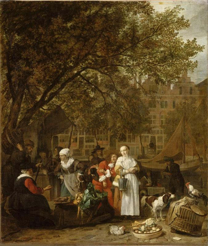 Gabriel Metso. Vegetable market in Amsterdam