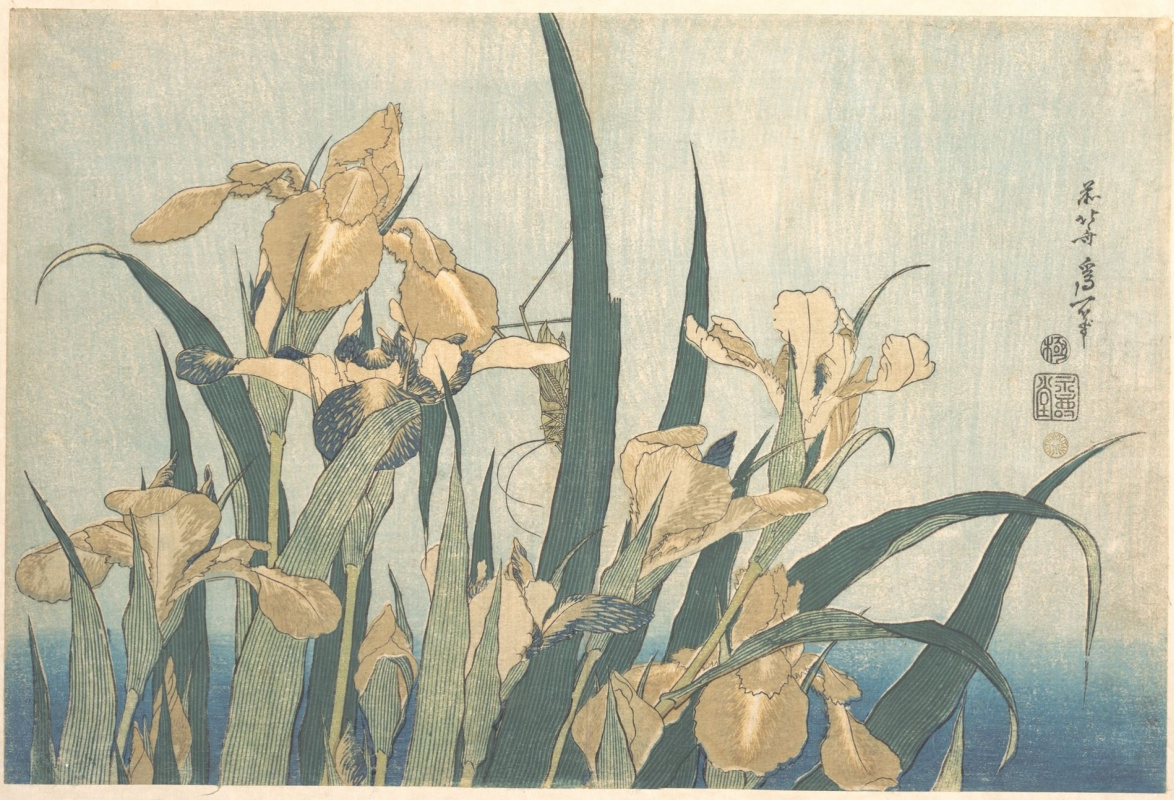 Katsushika Hokusai. Flowers and birds