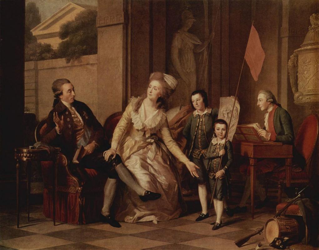 Johann Heinrich Wilhelm Tishbein. Family portrait of Princess Saltykova