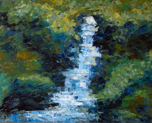 Larissa Lukaneva. Waterfall