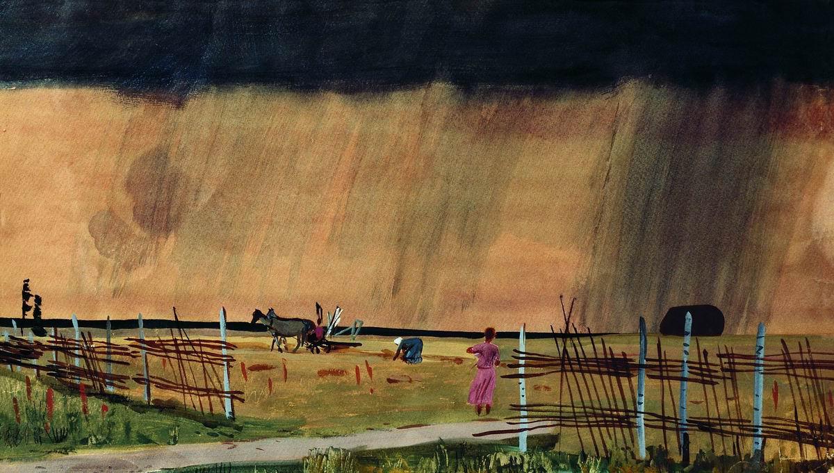 Alexander Alexandrovich Deineka. The storm comes in. Rain