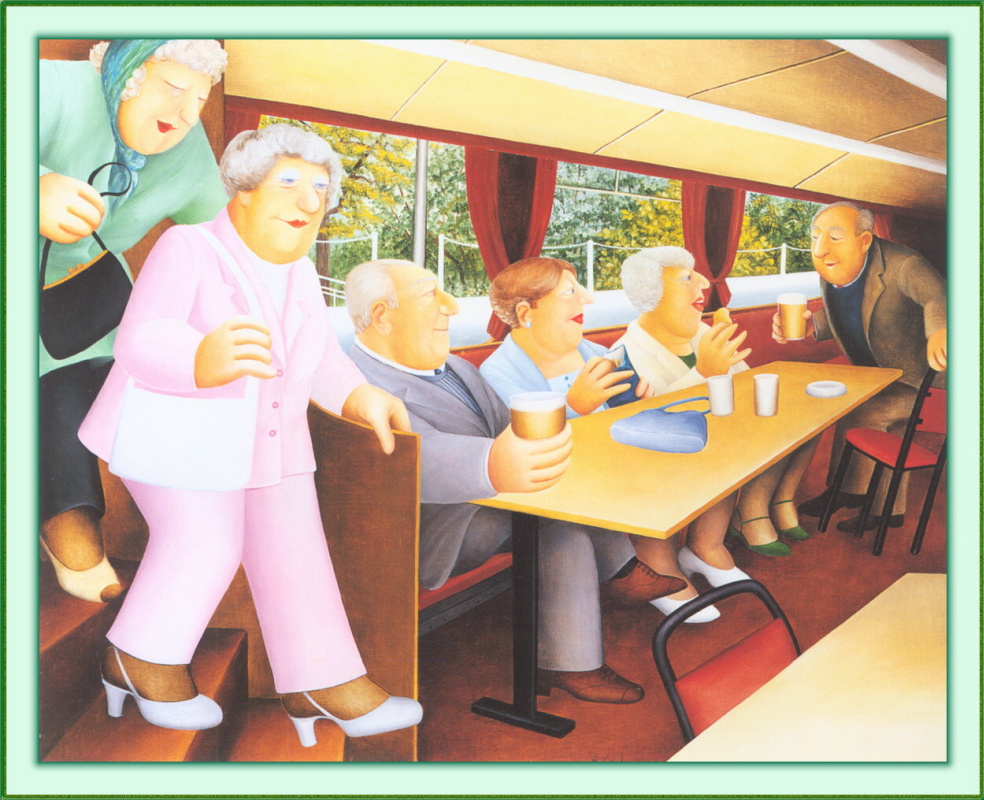 Beryl Cook. Riverboat
