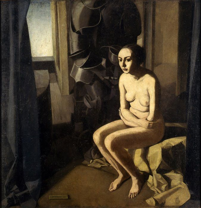 Felice Casorati. The woman and the armor