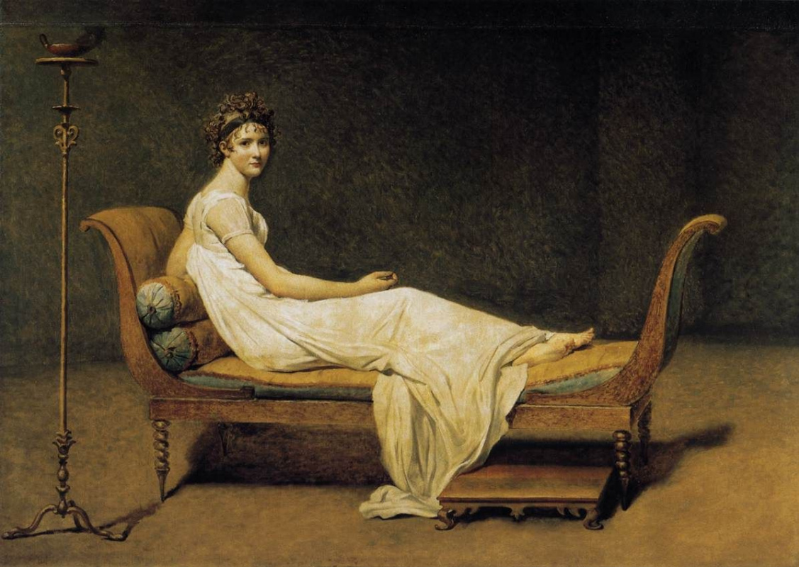 Jacques-Louis David. Portrait of Madame Récamier