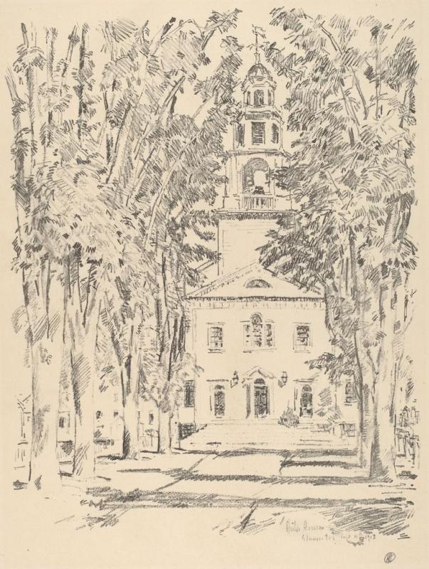 Чайльд Гассам. Колониальная церковь в Глостере