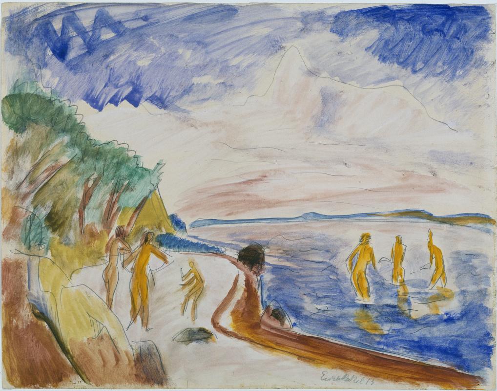 Эрих Хеккель. Купальщицы на пляже