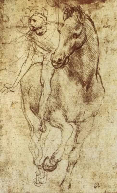 Леонардо да Винчи. Лошадь и всадник