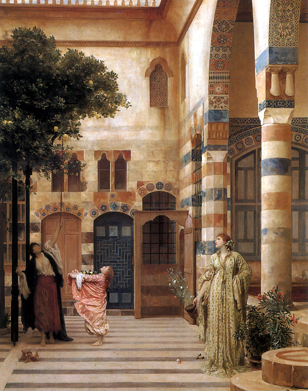 Сэр Фредерик Лейтон. Старый Дамаск, еврейский квартал