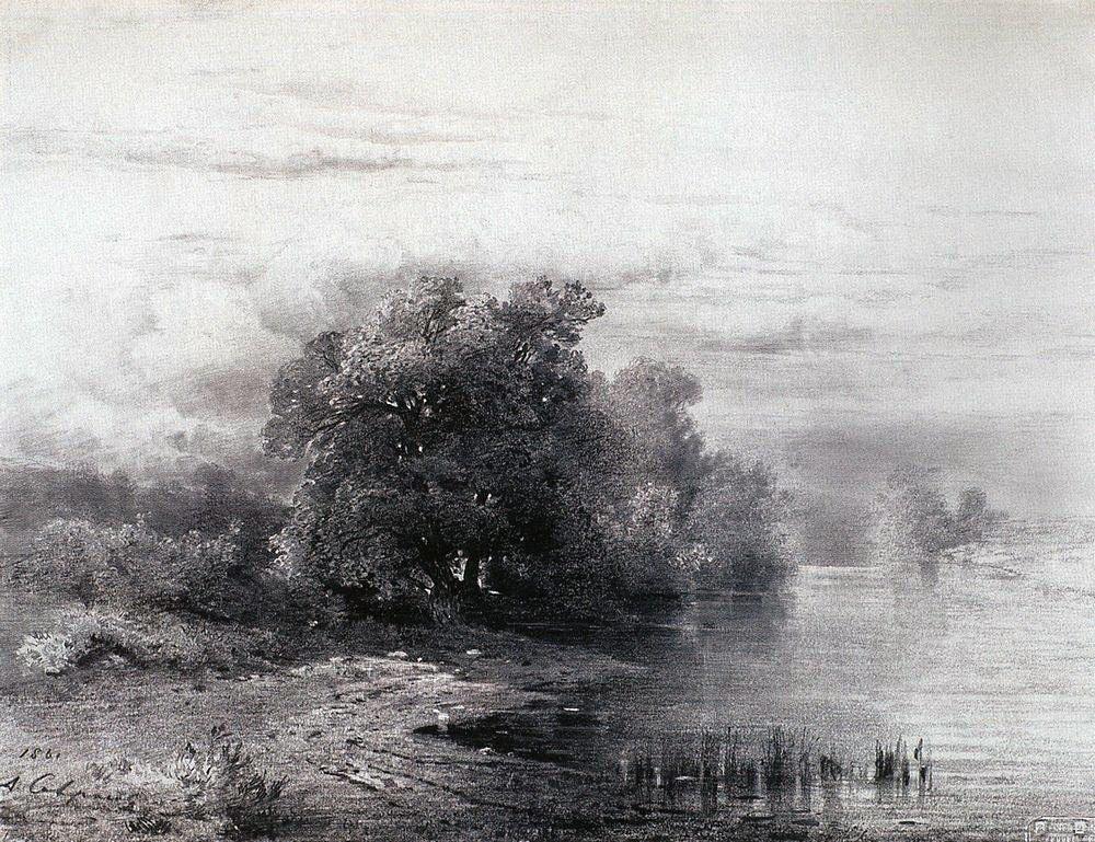 Алексей Кондратьевич Саврасов. Деревья у реки