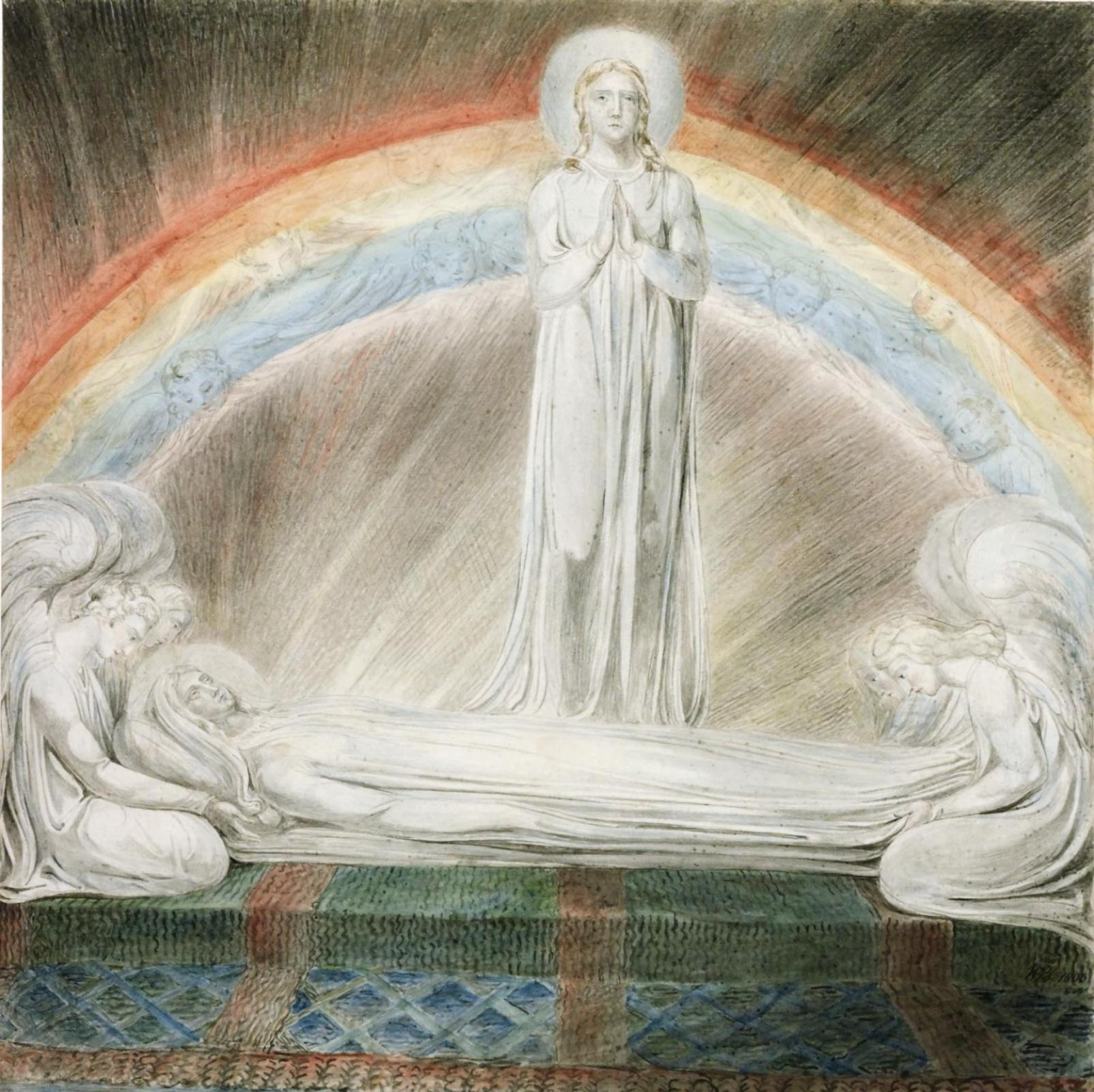 Уильям Блейк. Иллюстрации к Библии. Успение Богородицы