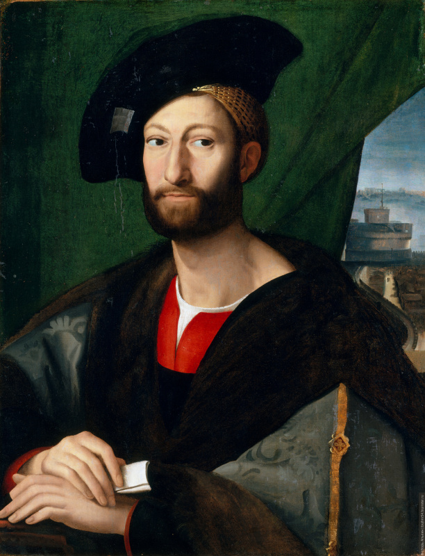 Raphael Sanzio. Portrait of Giuliano de ' Medici, Duke of Nemours