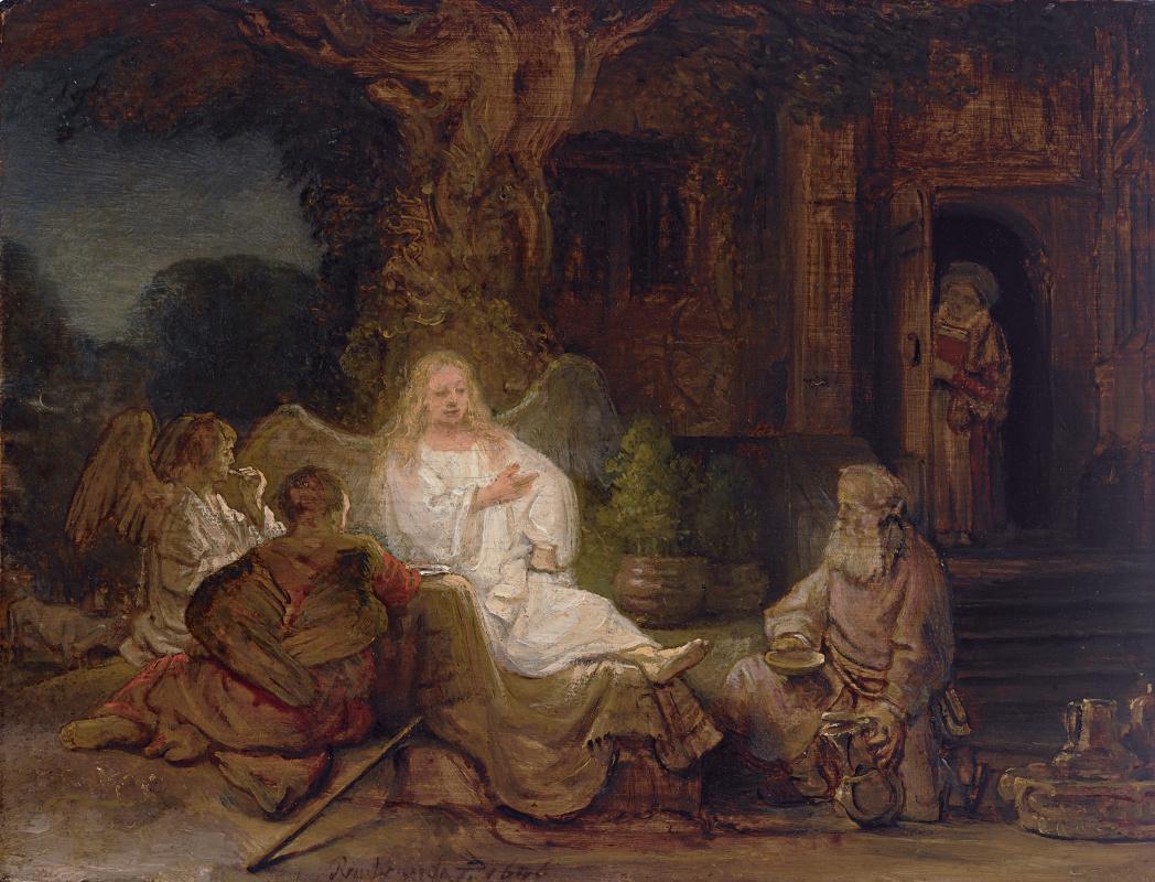 Рембрандт Харменс ван Рейн. Авраам и ангелы