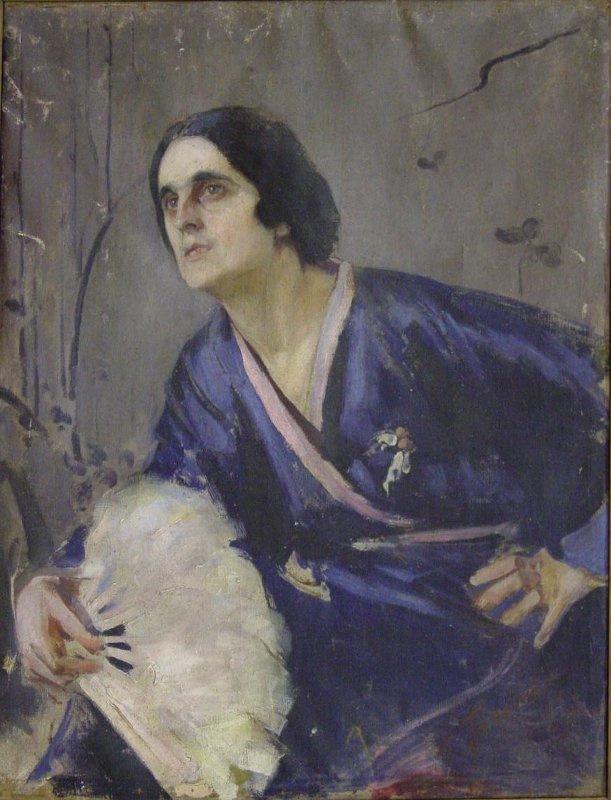 Pavel Petrovich Benkov. Portrait of Bayeva-Yakhonova