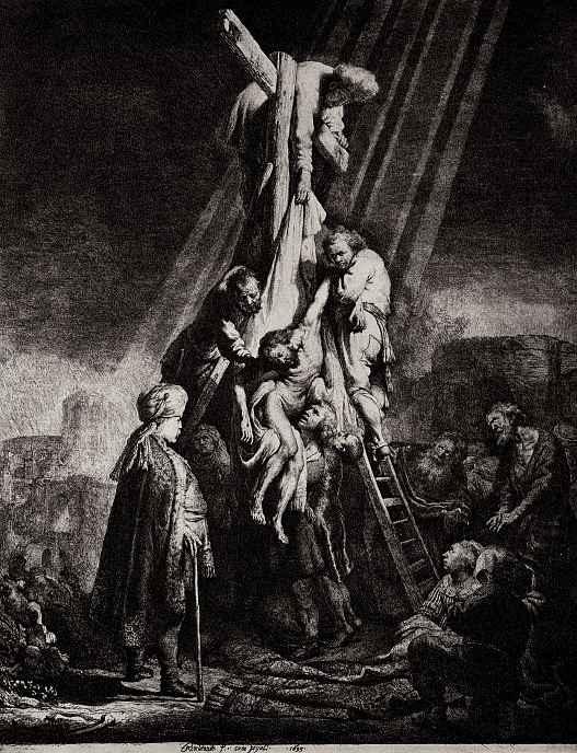 """Рембрандт Ван Рейн. Так называемое """"Большое снятие с креста"""""""